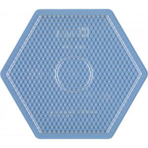 Hama Midi Perleplate Sekskant Stor Transparent 16,5x14,5cm - 1 stk