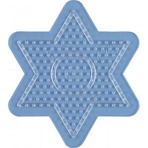 Hama Midi Perleplate Stjerne Liten Transparent 10x9cm - 1 stk