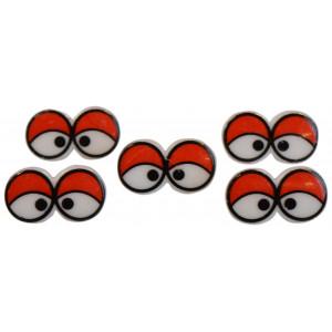 Infinity Hearts Sikkerhetsøyne / Amigurumi øyne med øyelokk 17x31mm 5 stk - Uten sikkerhetslås