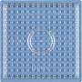 Hama Midi Perleplate Firkant Liten Transparent 7,5x7,5cm - 1 stk