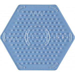Hama Midi Perleplate Sekskant Liten Transparent 8x9cm - 1 stk