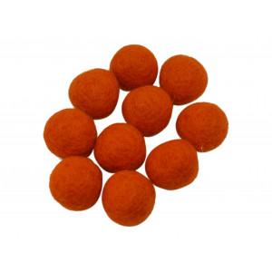 Ullkuler/Filtkuler 10mm Oransje R7 - 10 stk