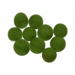 Ullkuler/Filtkuler 10mm Grønn GN4 - 10 stk