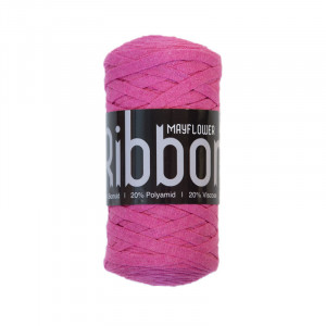 Mayflower Ribbon Stoffgarn Unicolor 121 Lys Pink