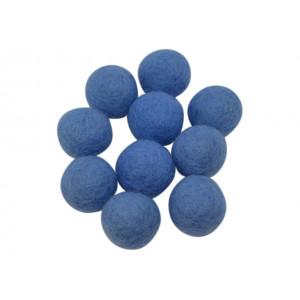 Ullkuler/Filtkuler 10mm Lys Blå BL5 - 10 stk