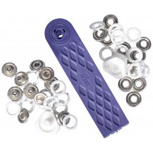 Prym Jersey Trykknapper Ring Hvit 10mm - 10 stk