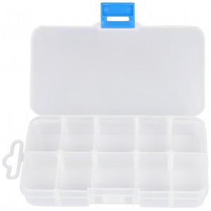 Opbevaringsboks Plastik med 10 rum 13x7cm - 1 stk