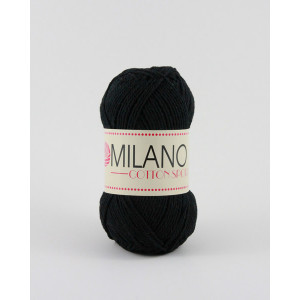 Milano Cotton Sport Garn Unicolor 08 Sort