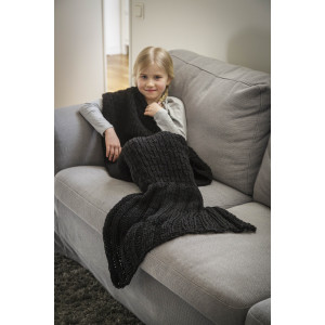 Järbo Ariel Havfrueteppe - Teppe barnestørrelse Strikkeopskrift 125x74 cm