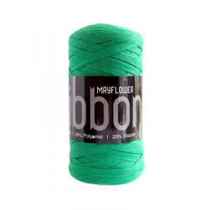 Mayflower Ribbon Stoffgarn Unicolor 130 Grønn