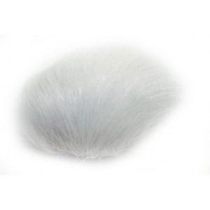 Pompon Dusk Kaninhår Hvit 60 mm