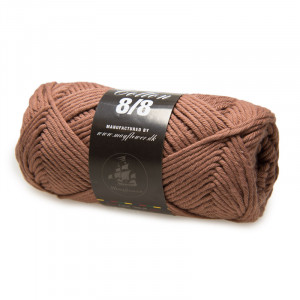 Mayflower Cotton 8/8 Big Garn Unicolor 1924 Mellembrun