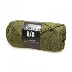 Mayflower Cotton 8/8 Big Garn Unicolor 1950 Lys Armygrøn