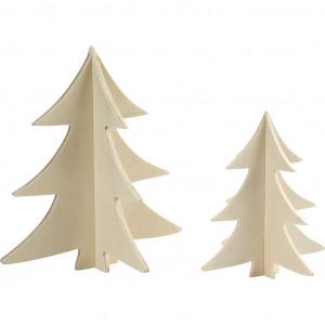Bilde av 3d Juletrær Til Nisser Kryssfiner 13-18cm - 2 Stk