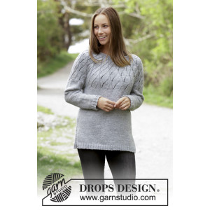 Winter Sea by DROPS Design - Bluse Strikkeoppskrift str. S - XXXL