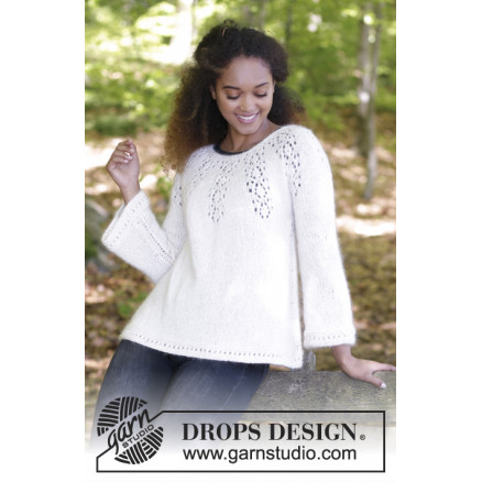 e1442c66 Nineveh Jumper by DROPS Design - Bluse Strikkeopskrift str. S - XXXL ...