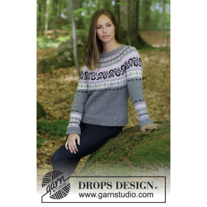 Telemark by DROPS Design - Bluse Strikkeoppskrift str. S - XXXL