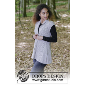 Morgan's Daughter Vest by DROPS Design - Vest Strikkeoppskrift str. S - XXXL