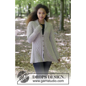 Morgan's Daughter Jacket by DROPS Design - Jakke Strikkeoppskrift str. S - XXXL