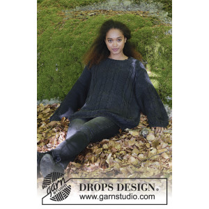Douce Nuit by DROPS Design - Bluse Strikkeoppskrift str. S - XXXL