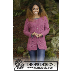 Lotus Jacket by DROPS Design - Jakke Strikkeopskrift str. S - XXXL