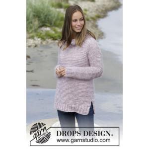 Foggy Morning by DROPS Design - Bluse Strikkeopskrift str. S - XXXL