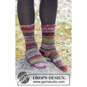 Rock Socks by DROPS Design - Sokker Strikkeoppskrift str. 35 - 43