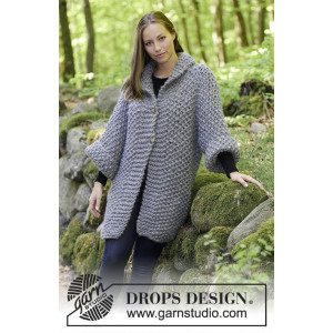 The Grove by DROPS Design - Jakke Strikkeoppskrift str. S - XXXL