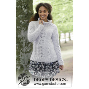 Winter Flirt by DROPS Design - Bluse Strikkeoppskrift str. S - XXXL