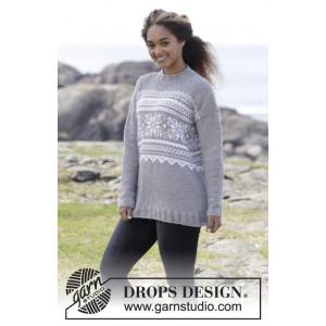 Vintermys by DROPS Design - Bluse Strikkeoppskrift str. S - XXXL