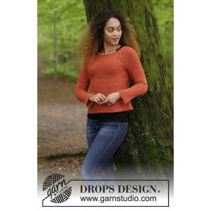 Autumn Vines by DROPS Design - Bluse Strikkeoppskrift str. S - XXXL