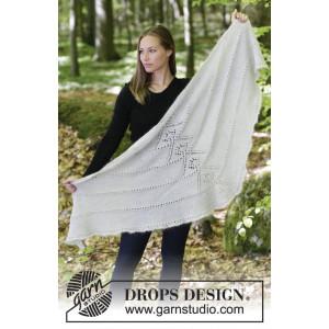 Viking Spirit by DROPS Design - Sjal Strikkeoppskrift 180x70 cm