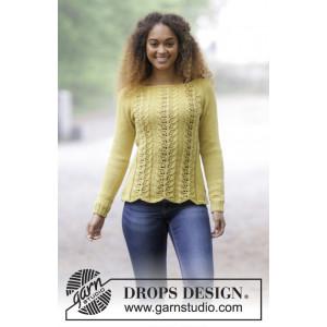 Lemon Parfait by DROPS Design - Bluse Strikkeoppskrift str. S - XXXL
