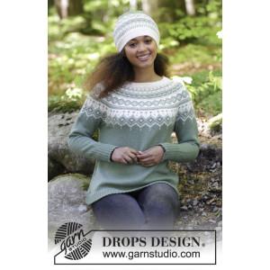 Perles du Nord by DROPS Design - Bluse og Hue Strikkeopskrift str. S - XXXL