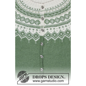 Perles du Nord Jacket by DROPS Design - Jakke Strikkeopskrift str. S - XXXL