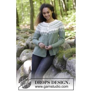 Perles du Nord Jacket by DROPS Design - Jakke Strikkeoppskrift str. S - XXXL