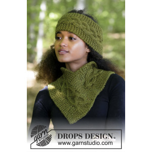 Sweet Winter Hat by DROPS Design - Hue og hals strikkekit str. S/M - L/XL