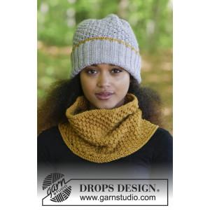 Sweet Winter Hat by DROPS Design - Hue og hals strikkekit str. S/M - L/XL