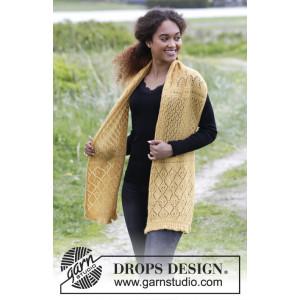 Dreamy Daffodil by DROPS Design - Halstørklæde Strikkeoppskrift 156x35 cm