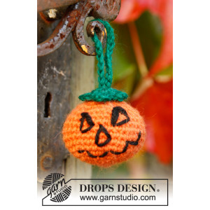 Jack by DROPS Design - Halloween Gresskar Hekleoppskrift 5cm