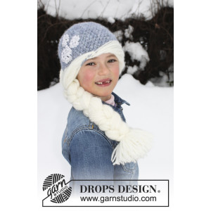 Princess Snowflake by DROPS Design - Lue Hekleoppskrift str. 1 - 8 år