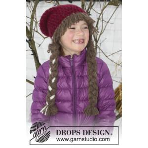 Anna Smiles by DROPS Design - lue Hekleoppskrift str. 3 - 14 år