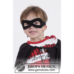 Little Zorro by DROPS Design - Maske Hekleoppskrift One size