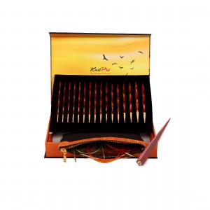 KnitPro The Golden Light Udskiftelige rundpindesæt Birk 60-80-100cm 3,5-8mm 8 størrelser