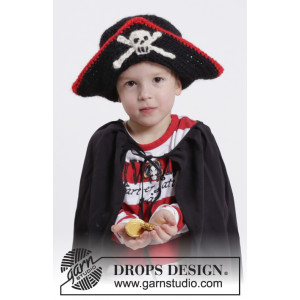 Ahoy! by DROPS Design - Piratlue Hekleoppskrift str. 1 - 9/10 år