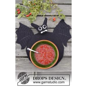 Lunch With Vlad by DROPS Design - Dekkeserviett Hekleoppskrift 26 cm