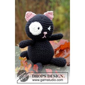 Sylvester by DROPS Design - Kat Hekleoppskrift 18cm