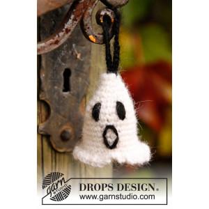 Casper by DROPS Design - Halloween Pynt Hekleoppskrift 4 cm