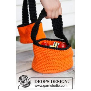 Trick or Treat! by DROPS Design - Halloween Kurv Hekleoppskrift