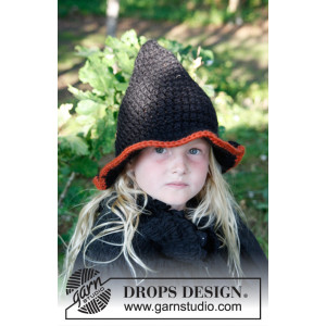 Merlina by DROPS Design - Hatt Hekleoppskrift str. 3 - 14 år